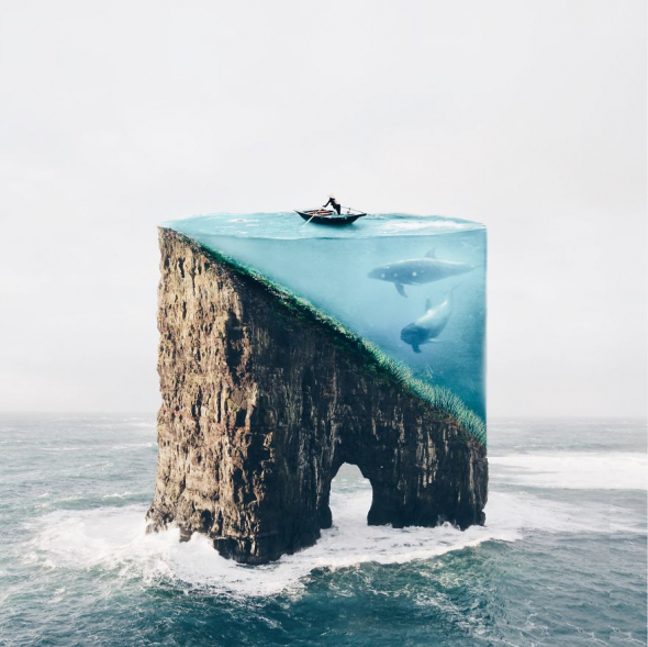 Z prapodivného skalnatého útesu dívka vytvořila akvárium!