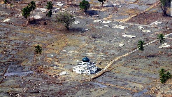 1. Sumatra, rok 2004, 9,1 Richterovy stupnice - 283 106 obětí