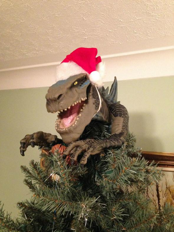 """3. A co takhle """"rexíka"""" místo vánoční hvězdy?"""