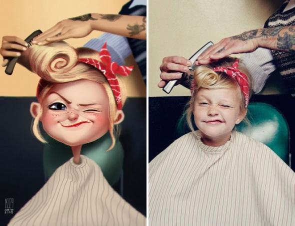 Umělec Julio Cesar z Brazílie má rozhodně obrovský talent.
