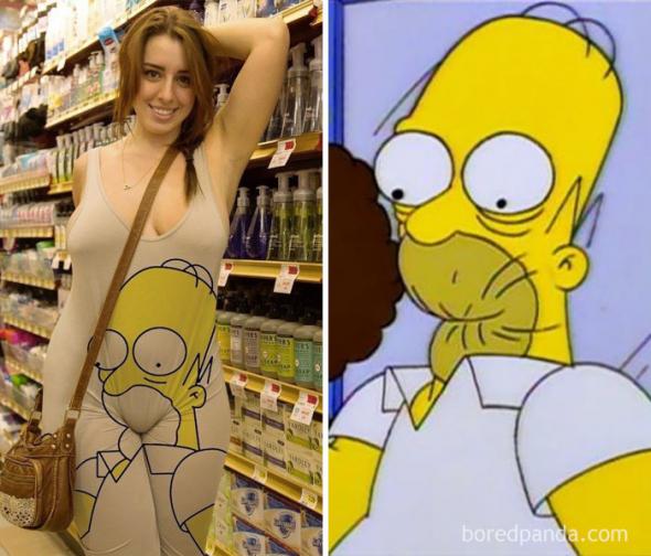 1# Kdo umí lépe špulit pusu. Homer, nebo tato neznámá dívka?